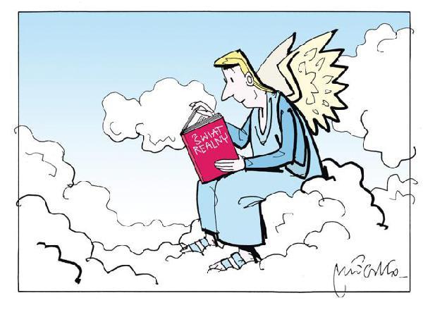 Anioł wie jak wygląda świat realny... wszystko wyczytał z ksiązek