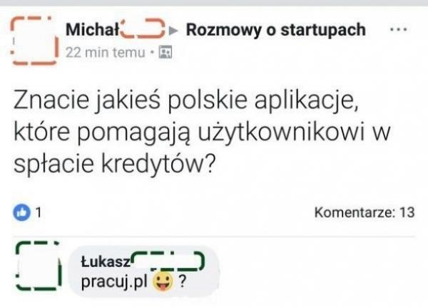 Znacie jakieś polskie aplikacje, które pomagają użytkownikowi w spłacie kredytów? Pracuj.pl