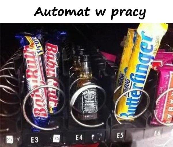 Automat w pracy