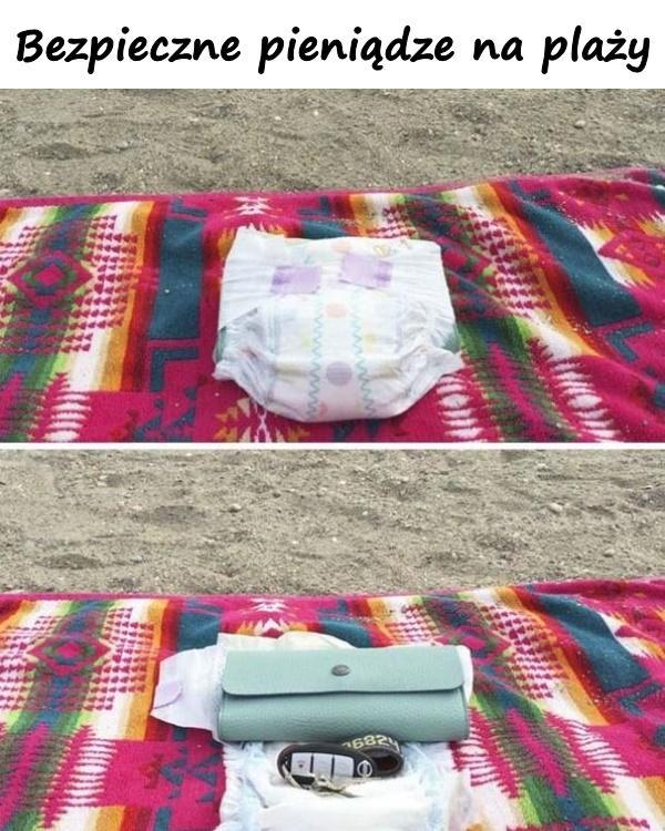Bezpieczne pieniądze na plaży