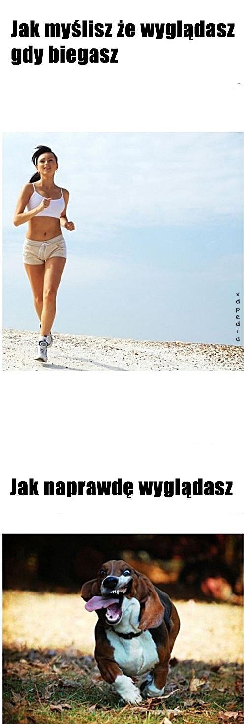 Jak myślisz, że wyglądasz gdy biegasz. Jak naprawdę wyglądasz.