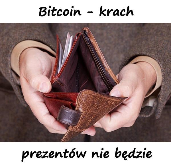 Bitcoin - krach i prezentów nie będzie