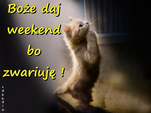 Boże daj weekend bo zwariuję!