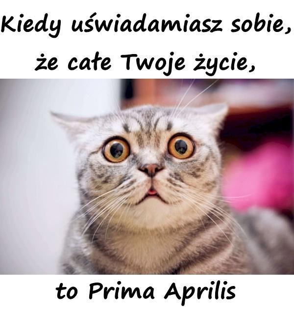 Kiedy uświadamiasz sobie, że całe Twoje życie, to Prima Aprilis