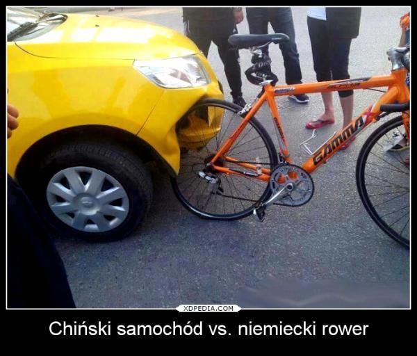 Chiński samochód vs. niemiecki rower