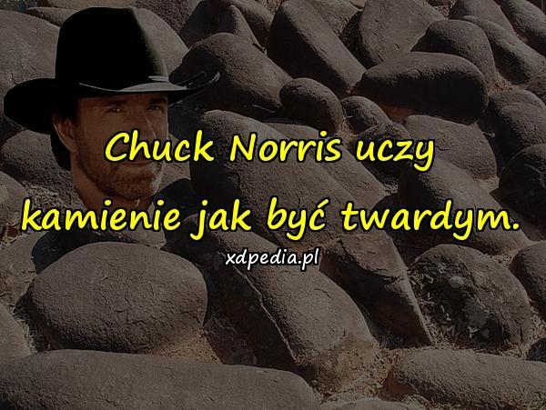 Chuck Norris uczy kamienie jak być twardym.