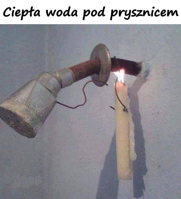 Ciepła woda pod prysznicem