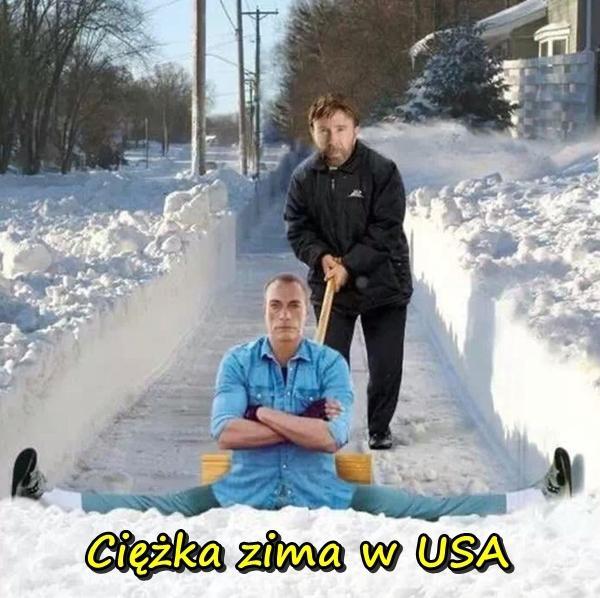 Ciężka zima w USA