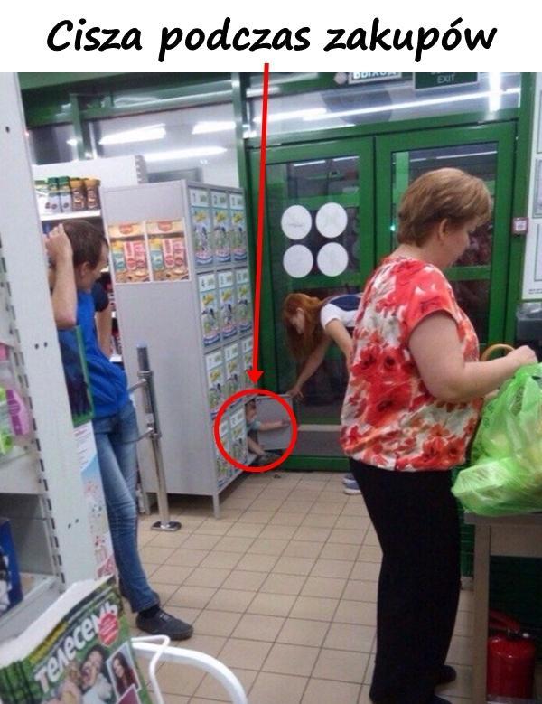 Cisza podczas zakupów