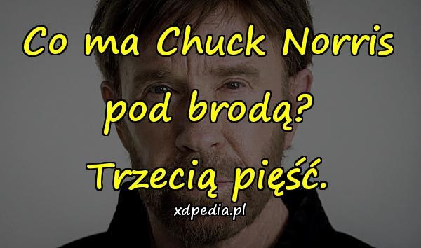 Co ma Chuck Norris pod brodą? Trzecią pięść.