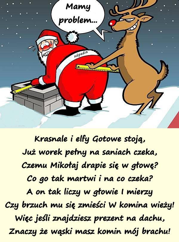 Wiersz Mikołajki Kartki święty Mikołaj Mem Wierszyki