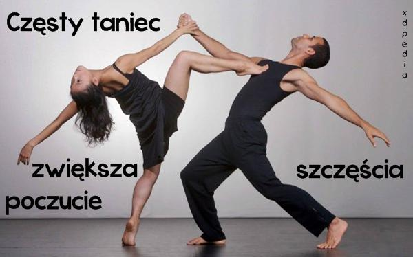 Częsty taniec zwiększa poczucie szczęścia