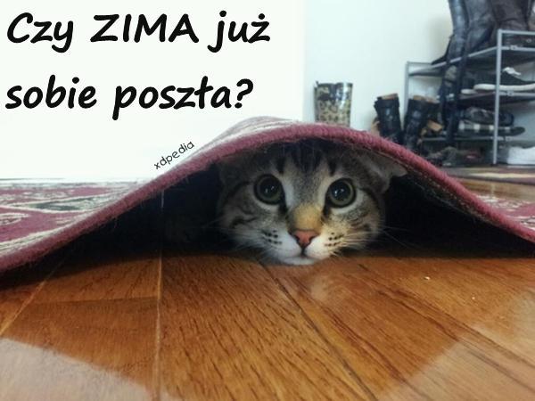 Czy ZIMA już sobie poszła?