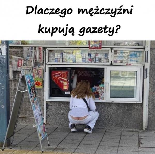 Dlaczego mężczyźni kupują gazety?
