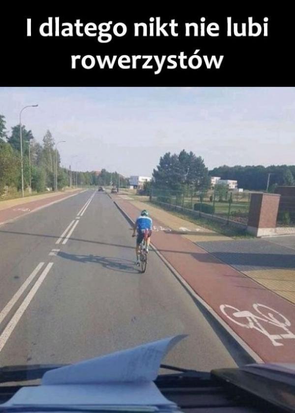 Dlatego nikt ie lubi rowerzystów