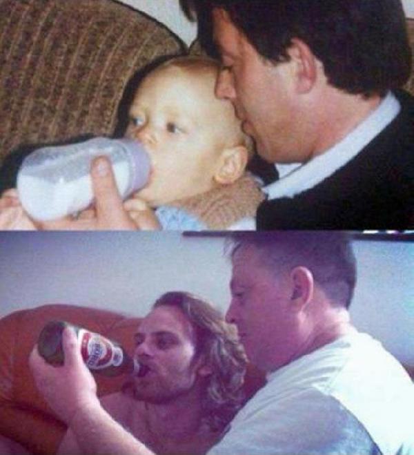 Dobry tata, kiedyś i dziś ;-)