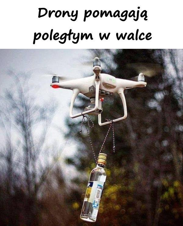 Drony pomagają poległym w walce