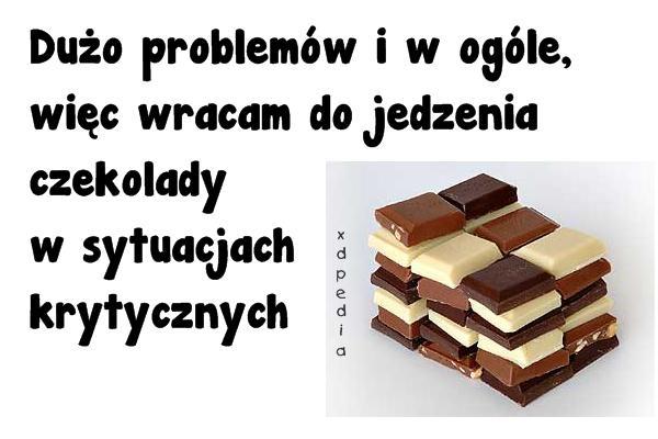 Dużo problemów i w ogóle, więc wracam do jedzenia czekolady w sytuacjach krytycznych
