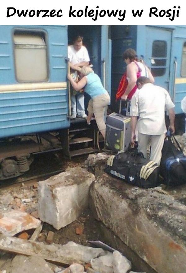 Dworzec kolejowy w Rosji