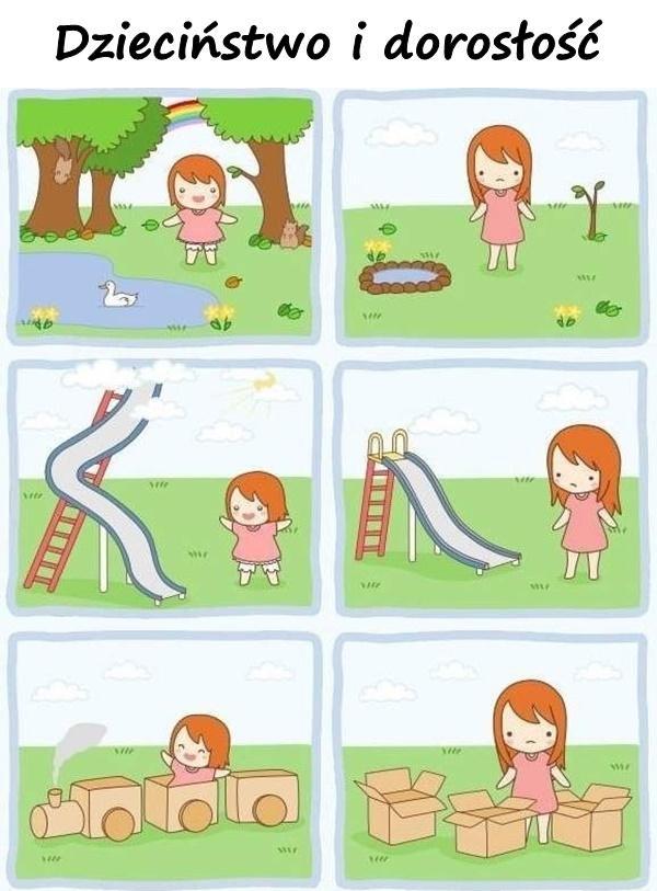Dzieciństwo i dorosłość