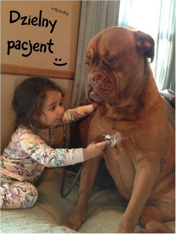 Dzielny pacjent :)