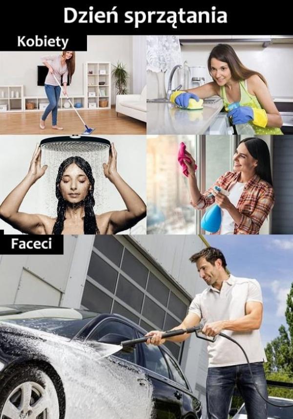 Dzień sprzątania - Kobiety vs. mężczyźni