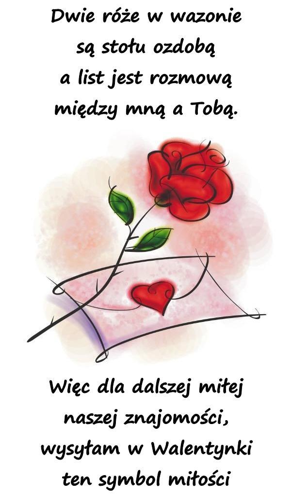 Wiersze Wiersz Wierszyki Na Walentynki Kartki życzenia
