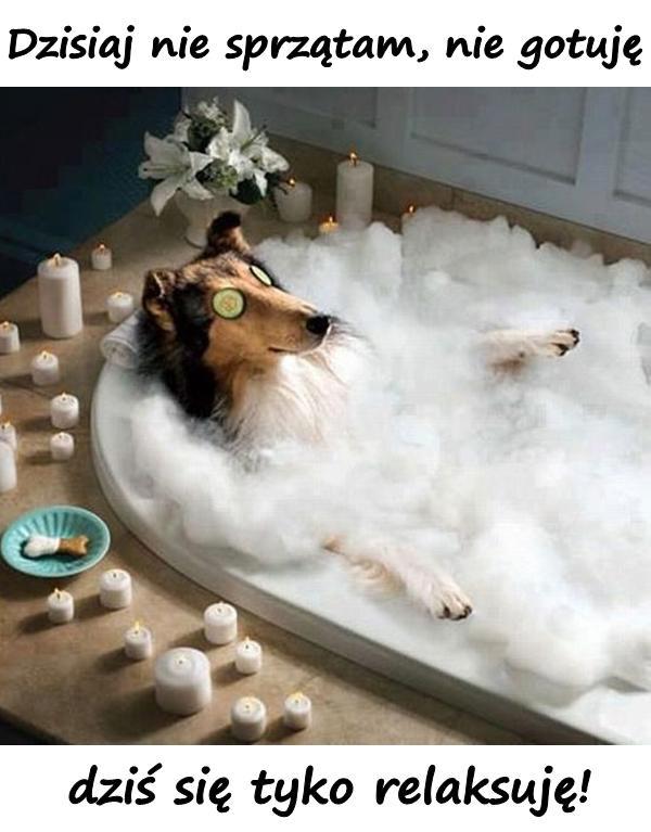 Dzisiaj nie sprzątam, nie gotuję, dziś się tyko relaksuję!
