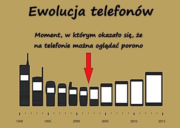 Ewolucja telefonów. Moment, w którym okazało się, że na telefonie można oglądać porono.