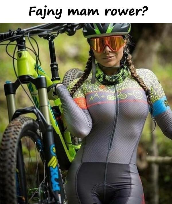 Fajny mam rower?