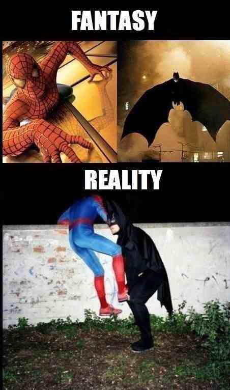 Fantasy vs reality Bohaterzy