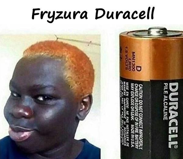 Fryzura Duracell