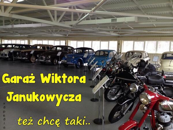 Garaż Wiktora Janukowycza, też chcę taki...