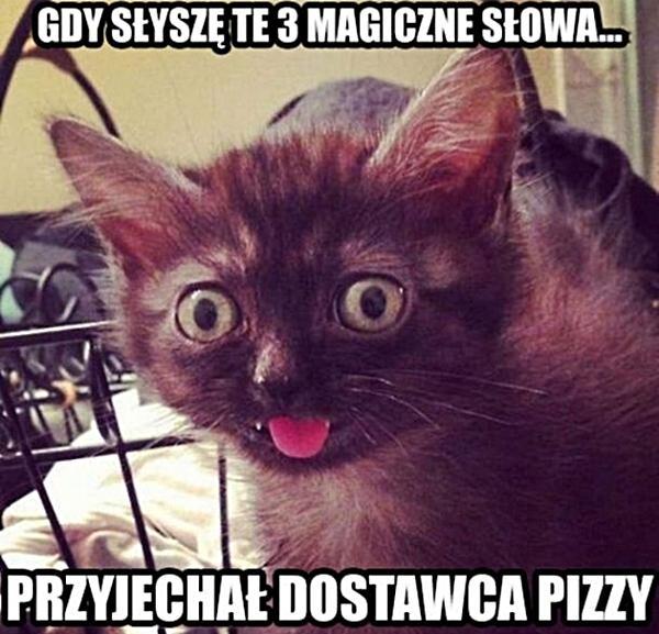Gdy słyszę te 3 magiczne słowa. Przyjechał dostawca pizzy.