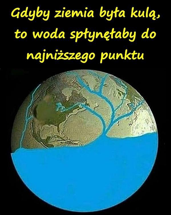 Gdyby Ziemia była kulą, to woda spłynęłaby do najniższego punktu