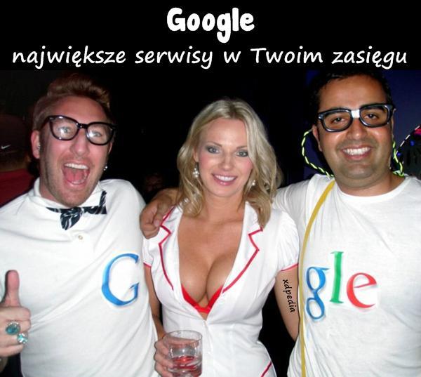 Google - największe serwisy w Twoim zasięgu