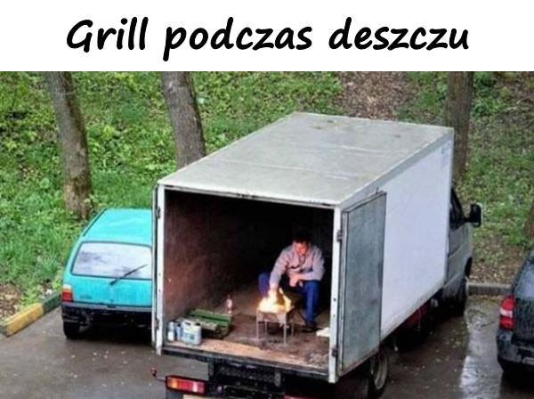 Grill podczas deszczu