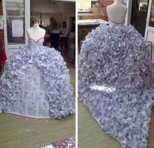 Hit sezonu! suknia ślubna z gazet