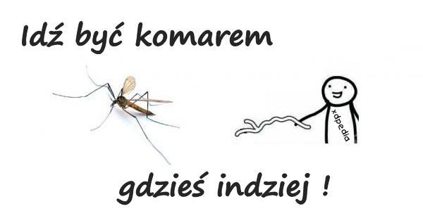 Idź być komarem gdzieś indziej!