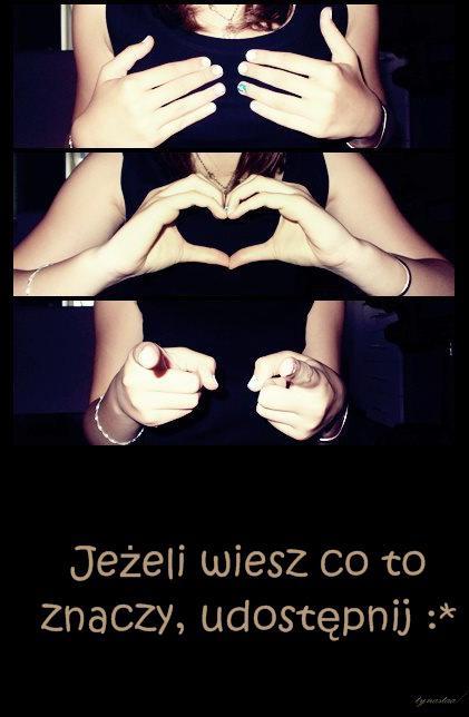 Ja kocham Ciebie - LoVcIaM CiĘ;):D Jeżeli wiesz co to znaczy, udostępnij :*