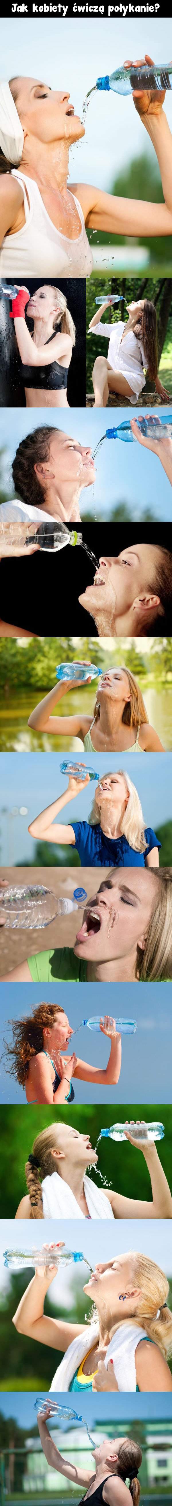 Jak kobiety ćwiczą połykanie?