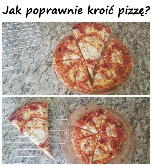 Jak poprawnie kroić pizzę?