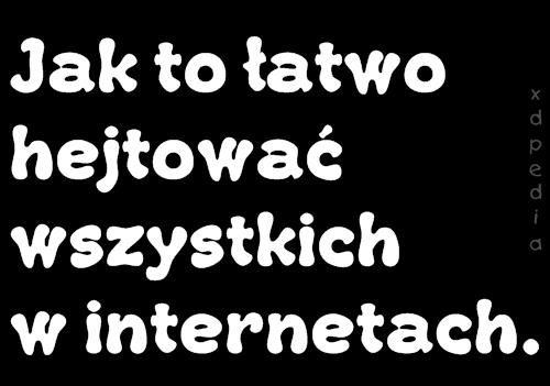 Jak to łatwo hejtować wszystkich w internetach. Tagi: memy, internet, mem, besty, hejter, hejterzy, hejtowanie.