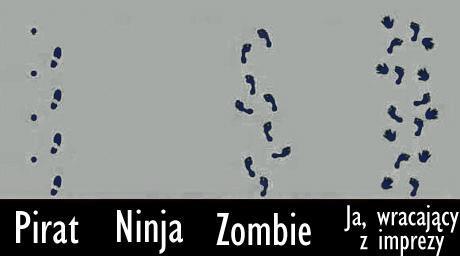 Jak wracasz z imprezy? Pirat, Ninja, Zombie, Ja wracający z imprezy