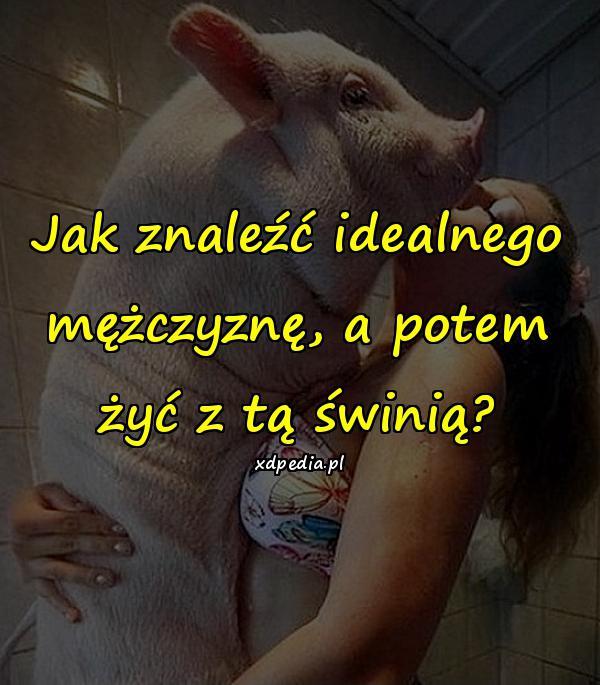 Jak znaleźć idealnego mężczyznę, a potem żyć z tą świnią?