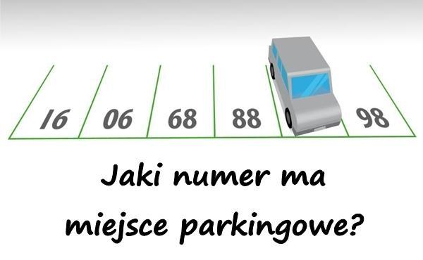 Jaki numer ma miejsce parkingowe?
