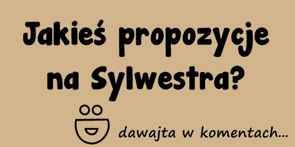 Jakieś propozycje na Sylwestra? :D dawajta w komentach...