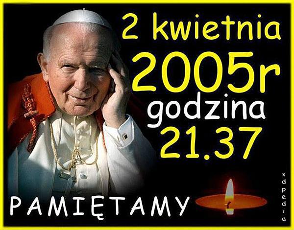 Jan Paweł II 2 kwietnia 2005 r. godzina 21.37