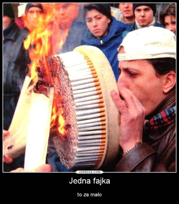 Jedna fajka to za mało