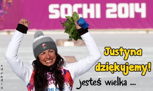 Justyna dziękujemy! Jesteś wielka!